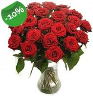 Vazo içerisinde 25 adet kırmızı gül  Karşıyaka online çiçek gönderme sipariş