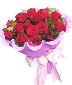 12 adet kırmızı gülden görsel buket  Karşıyaka hediye çiçek yolla