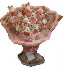 12 adet tavşan buketi  Karşıyaka çiçek servisi , çiçekçi adresleri