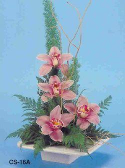 Karşıyaka çiçek gönderme  vazoda 4 adet orkide