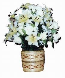 yapay karisik çiçek sepeti   Karşıyaka çiçek servisi , çiçekçi adresleri