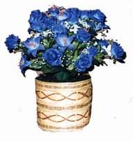 yapay mavi çiçek sepeti  Karşıyaka cicek , cicekci