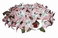 yapay karisik çiçek sepeti   Karşıyaka hediye çiçek yolla