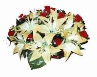 yapay karisik çiçek sepeti   Karşıyaka çiçekçiler