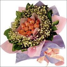 11  adet  gül ve   elyaflar   Karşıyaka hediye çiçek yolla