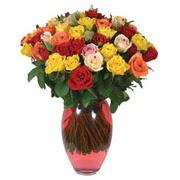 51 adet gül ve kaliteli vazo   Karşıyaka İnternetten çiçek siparişi