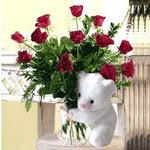 9 adet kirmizi gül    Karşıyaka çiçek satışı