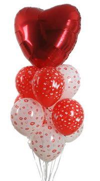 Sevdiklerinize 17 adet uçan balon demeti yollayin.   Karşıyaka çiçekçi mağazası
