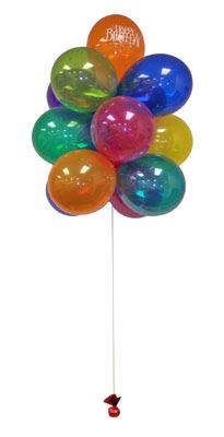 Karşıyaka çiçek yolla  Sevdiklerinize 17 adet uçan balon demeti yollayin.