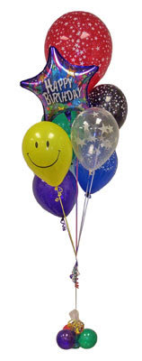 Karşıyaka çiçek satışı  Sevdiklerinize 17 adet uçan balon demeti yollayin.
