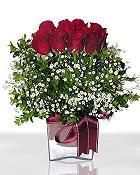 Karşıyaka çiçek satışı  11 adet gül mika yada cam - anneler günü seçimi -