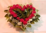 Karşıyaka internetten çiçek satışı  Kalp seklinde hazirlanmis gül tanzimi