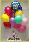 Karşıyaka 14 şubat sevgililer günü çiçek  25 adet uçan balon ve 1 kutu çikolata hediye