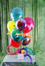 Karşıyaka kaliteli taze ve ucuz çiçekler  karisik görüntüde renkli uçan balon buketi
