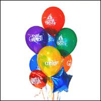 Karşıyaka online çiçekçi , çiçek siparişi  21 adet renkli uçan balon hediye ürünü