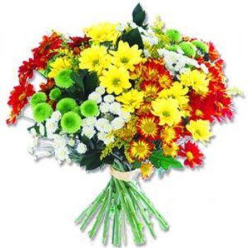 Kir çiçeklerinden buket modeli  Karşıyaka çiçek siparişi vermek
