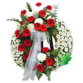 Cenaze çelengi cenaze çiçek modeli  Karşıyaka cicekciler , cicek siparisi