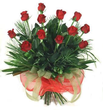 Çiçek yolla 12 adet kirmizi gül buketi  Karşıyaka kaliteli taze ve ucuz çiçekler