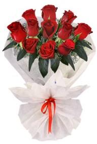 11 adet gül buketi  Karşıyaka çiçekçiler  kirmizi gül