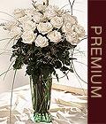 Karşıyaka çiçek mağazası , çiçekçi adresleri  Beyaz güllerden vazo tanzim