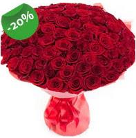 Özel mi Özel buket 101 adet kırmızı gül  Karşıyaka 14 şubat sevgililer günü çiçek