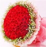 101 adet kırmızı gülden buket  Karşıyaka online çiçek gönderme sipariş