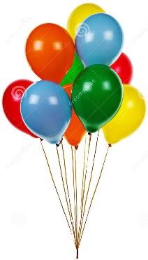 12 adet karışık renkli uçan balon siparişi