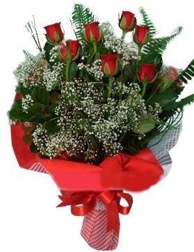 7 kırmızı gül buketi  Karşıyaka çiçek online çiçek siparişi