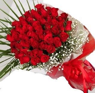51 adet kırmızı gül buketi  Karşıyaka İnternetten çiçek siparişi