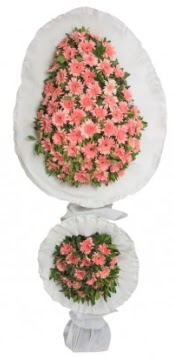 Çift katlı düğün açılış nikah çiçeği modeli  Karşıyaka çiçek yolla