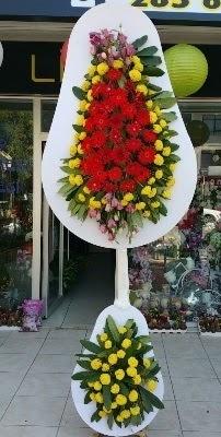Çift katlı düğün çiçekleri  Karşıyaka çiçekçi mağazası