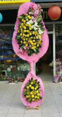 Çift katlı düğün açılış çiçeği  Karşıyaka çiçek online çiçek siparişi