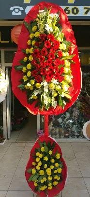 Çift katlı düğün açılış çiçek modeli  Karşıyaka çiçek online çiçek siparişi