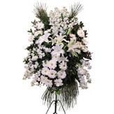 Karşıyaka online çiçek gönderme sipariş  Ferforje beyaz renkli kazablanka