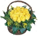 Karşıyaka online çiçek gönderme sipariş  Sepet içinde kaliteli sari güller