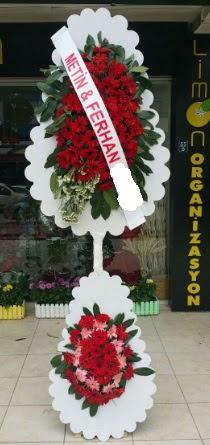 Çift katlı düğün nikah çiçeği modeli  Karşıyaka çiçekçi mağazası