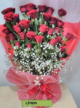 Kız isteme buket çiçeği 33 kırmızı gül  Karşıyaka çiçek satışı