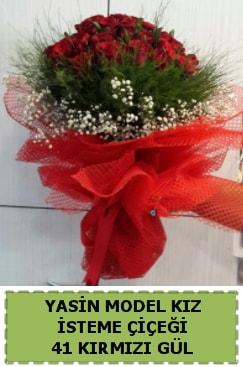 41 Adet kırmızı gül kız isteme çiçeği  Karşıyaka İnternetten çiçek siparişi