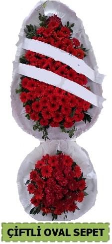 Çift katlı oval düğün nikah açılış çiçeği  Karşıyaka İnternetten çiçek siparişi