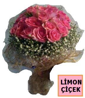 Pembe gül kız isteme söz nişan çiçeği  Karşıyaka çiçek yolla