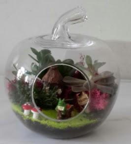 Elma cam orta boy terrarium teraryum  Karşıyaka çiçek yolla