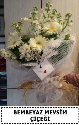 Bembeyaz görsel mevsim çiçek buketi  Karşıyaka çiçek gönderme sitemiz güvenlidir