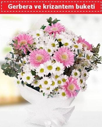 Papatya ve Gerbera Buketi  Karşıyaka çiçek satışı